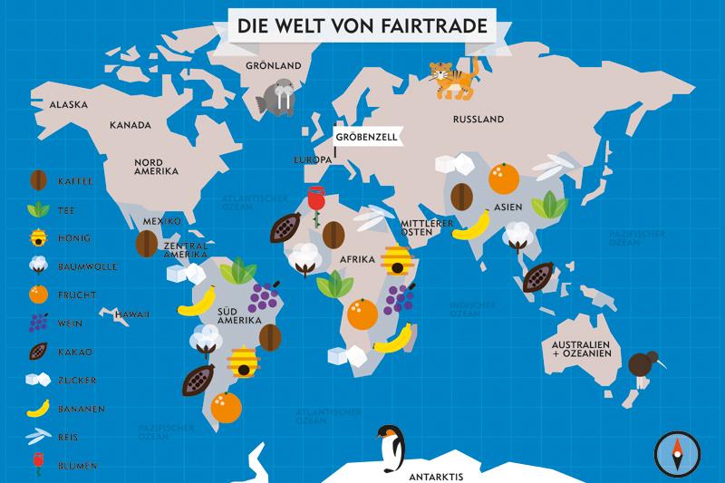 Fairtrade Postkarte